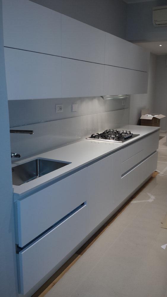 Cucina Bella in laccato bianco opaco - mariottini